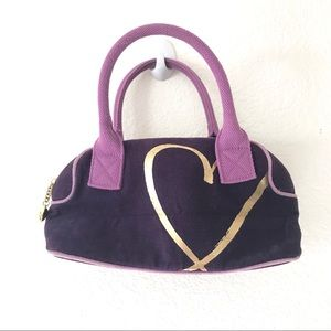 Victorias Secret Womens Purple Canvas Handbag